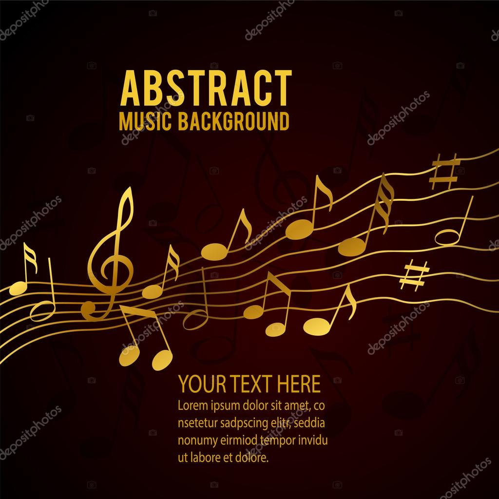 Gold Music Notes Stock Vector C Igordudas 50372113