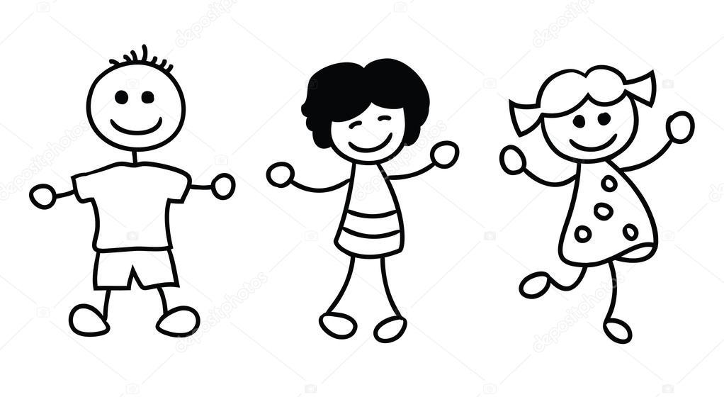 Imágenes: simples | simples niños jugando — Vector de stock ...
