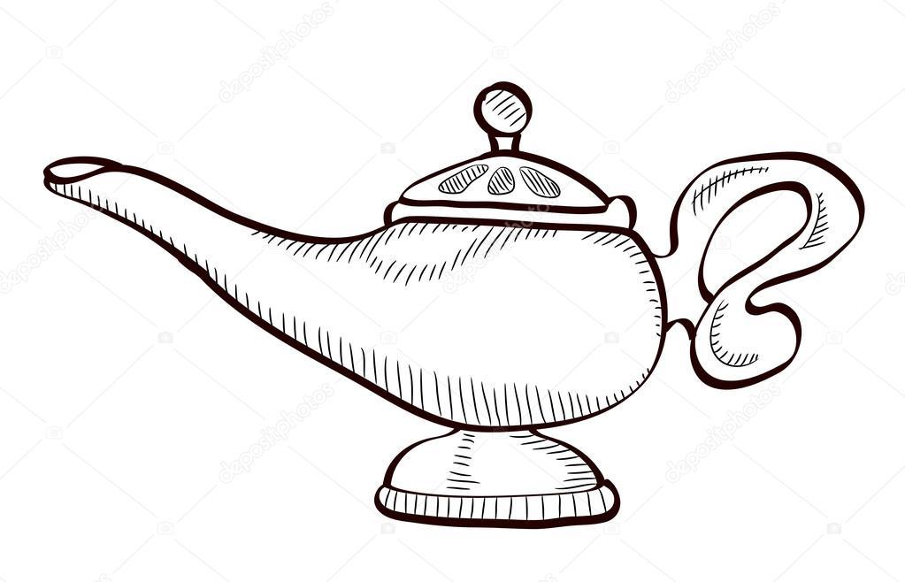 Dibujos Animados De La Lámpara De Aladino