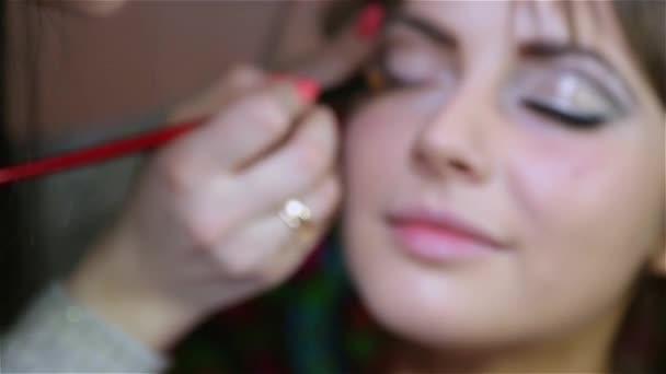 mester szépségszalon alkalmazni smink szem modell