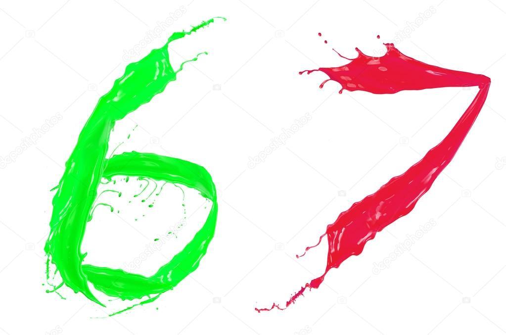 alfabeto líquido coloreado — Foto de stock © habovka #36405343