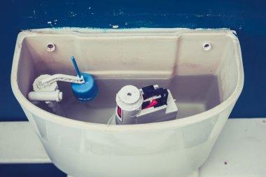Open cistern of toilet