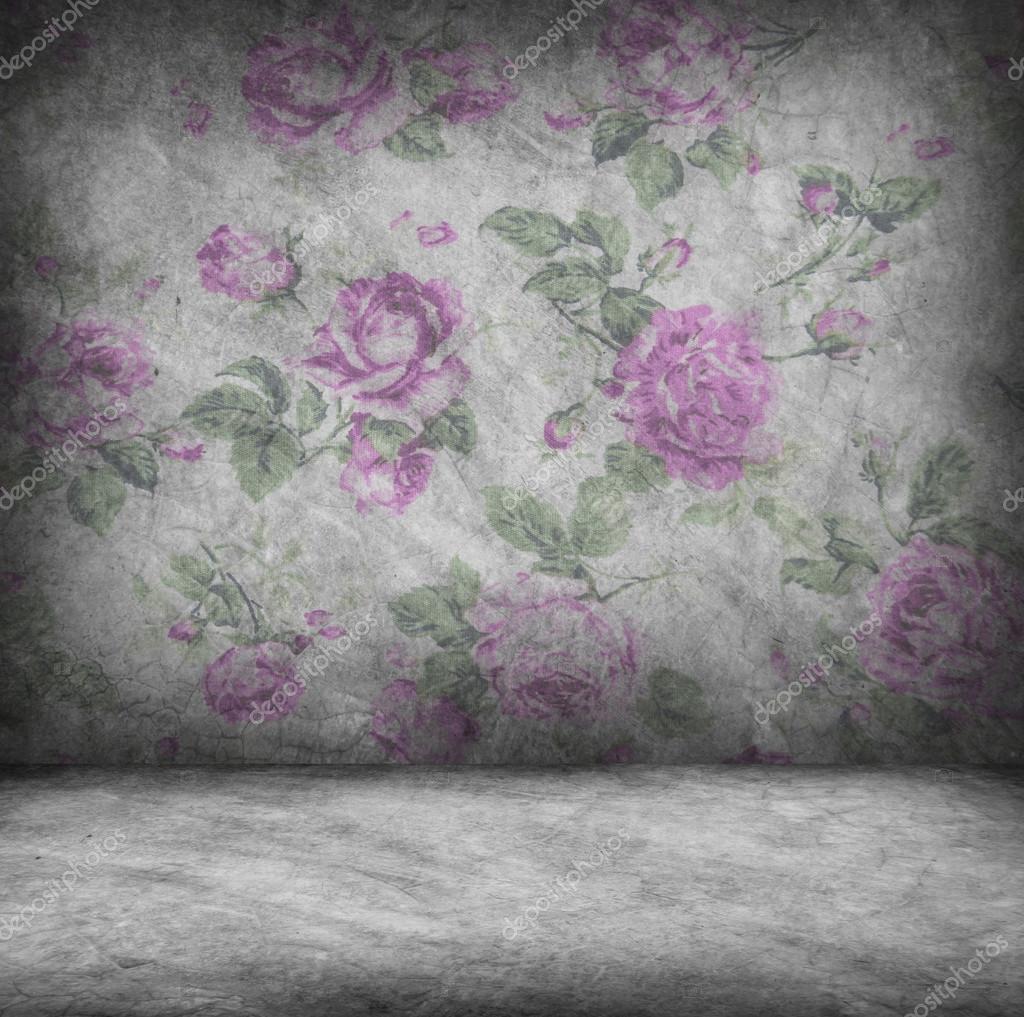 Texture De Mur Et Plancher Béton Avec Fond D'écran Rose