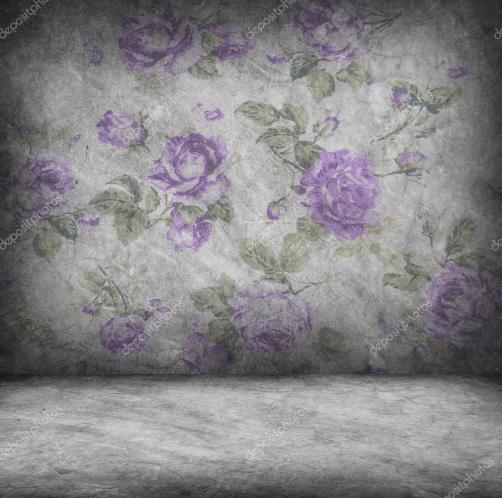 Concrete wall and floor texture with rose purple wallpaper , Gru