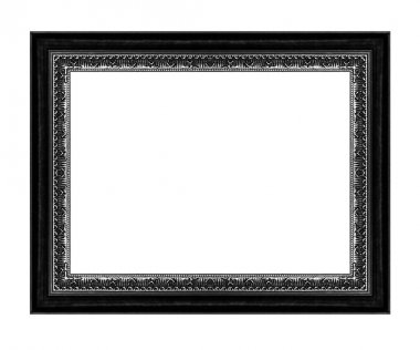 Vintage black frame with blank space, with clipping path