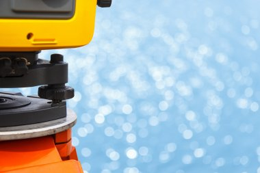 The total station, The geodetic and topography measuring tool, c