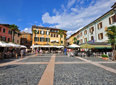 Town square on Sirmione, Italy