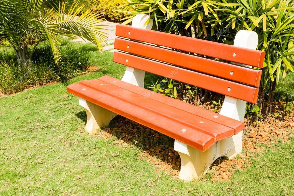 Concrete Park Bench Stock Photo C Solomonjee 41050177