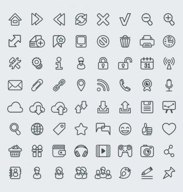 Universal Web Icons Outline Set