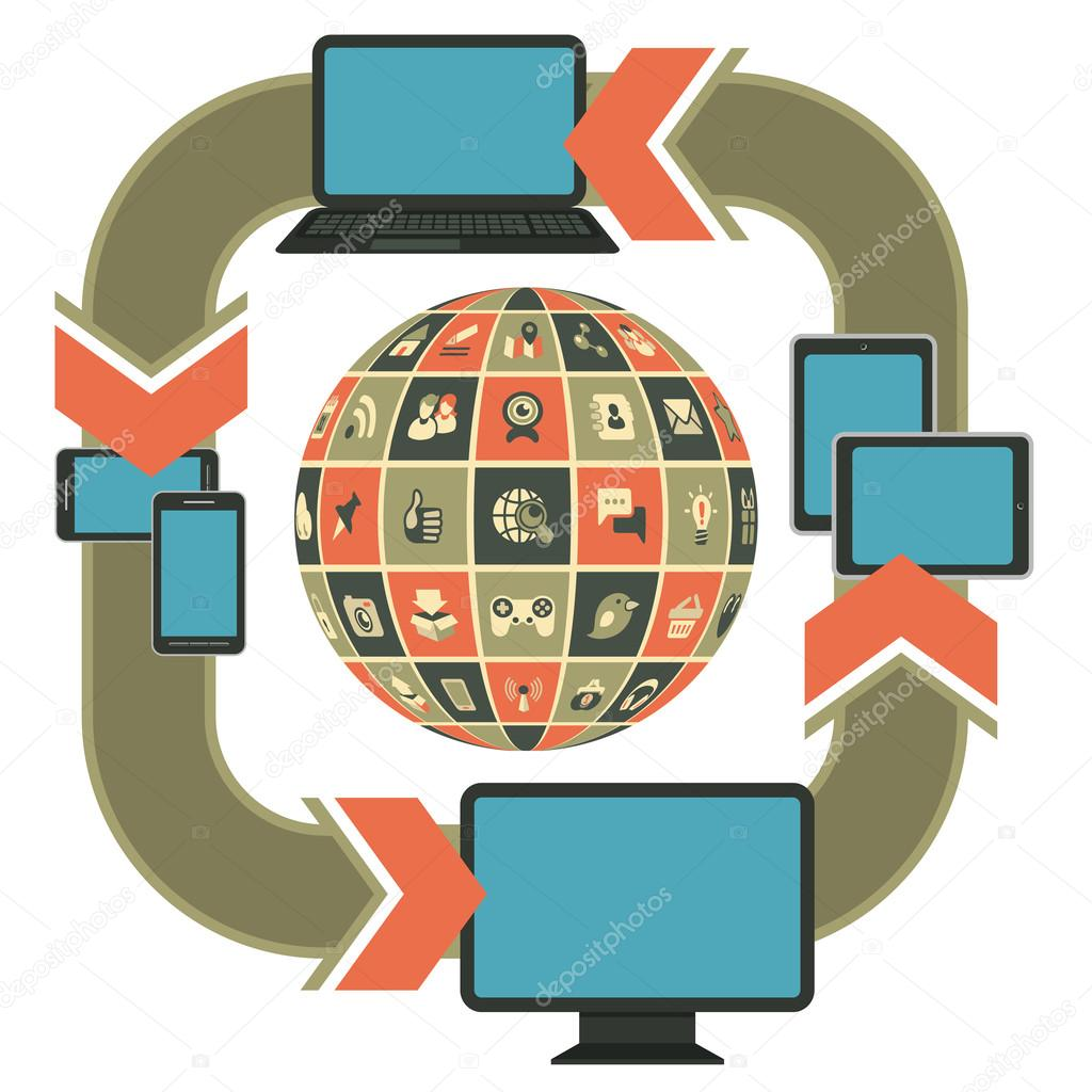 plantilla de diseño web sensible — Vector de stock © vectorikart ...