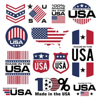 Symbol element usa manufacturing icon banner vector stock vector
