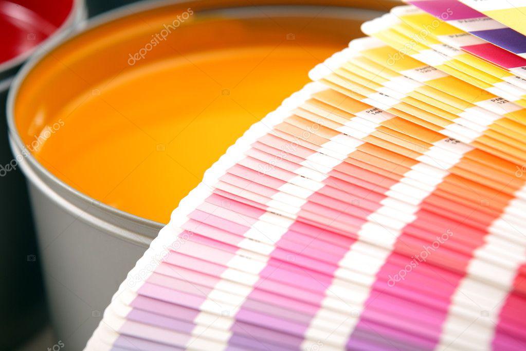 Printing press inks, cyan, magenta, yellow