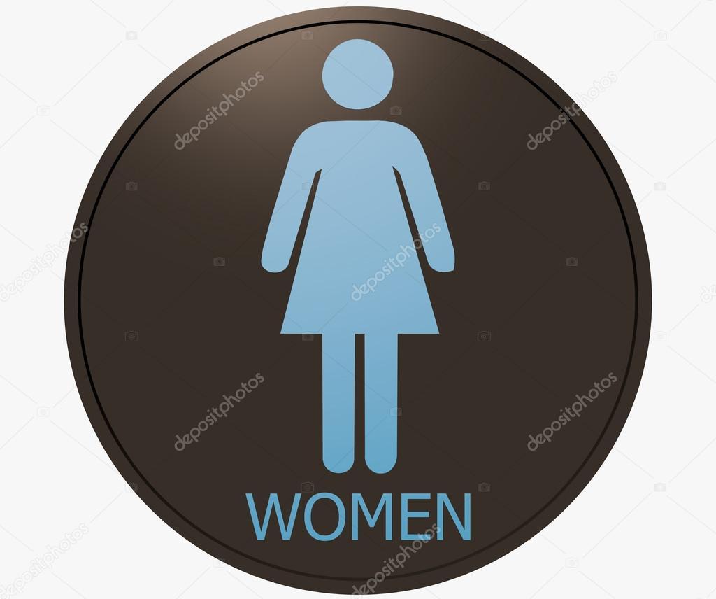 Cartello toilette donne foto stock dmitrri 36400483 - Cartello bagno donne ...