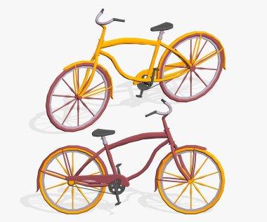 Cartoon icycles
