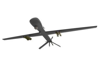 Predator drone isolated on white