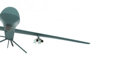 Predator drone isolated on white