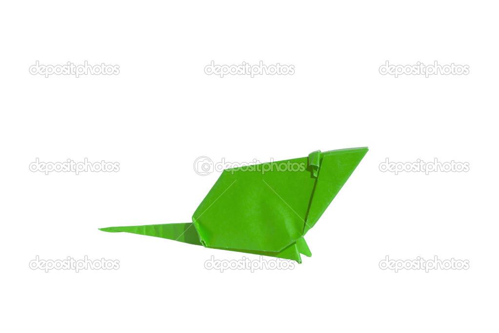 White Origami Mouse Isolated On White Stock Photo Chupi 48034173
