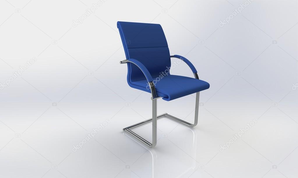 Poltrona Ufficio Elegante : Sedia da ufficio blu elegante isolato su bianco u foto stock