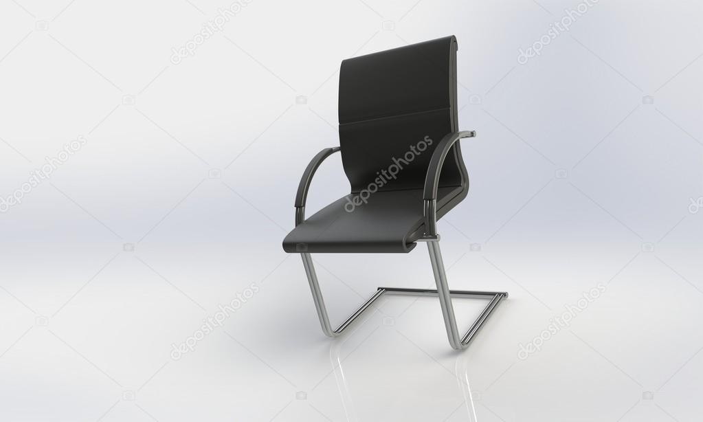 Sedia Ufficio Elegante : Sedia da ufficio elegante isolato su bianco u foto stock chupi