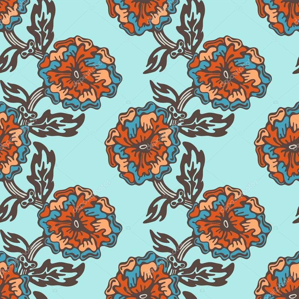Floral botanical seamless pattern vector