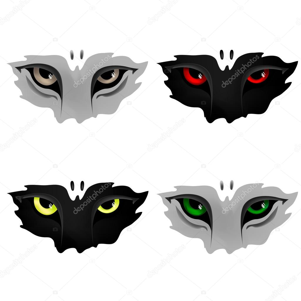 Ojos de depredador vector de stock