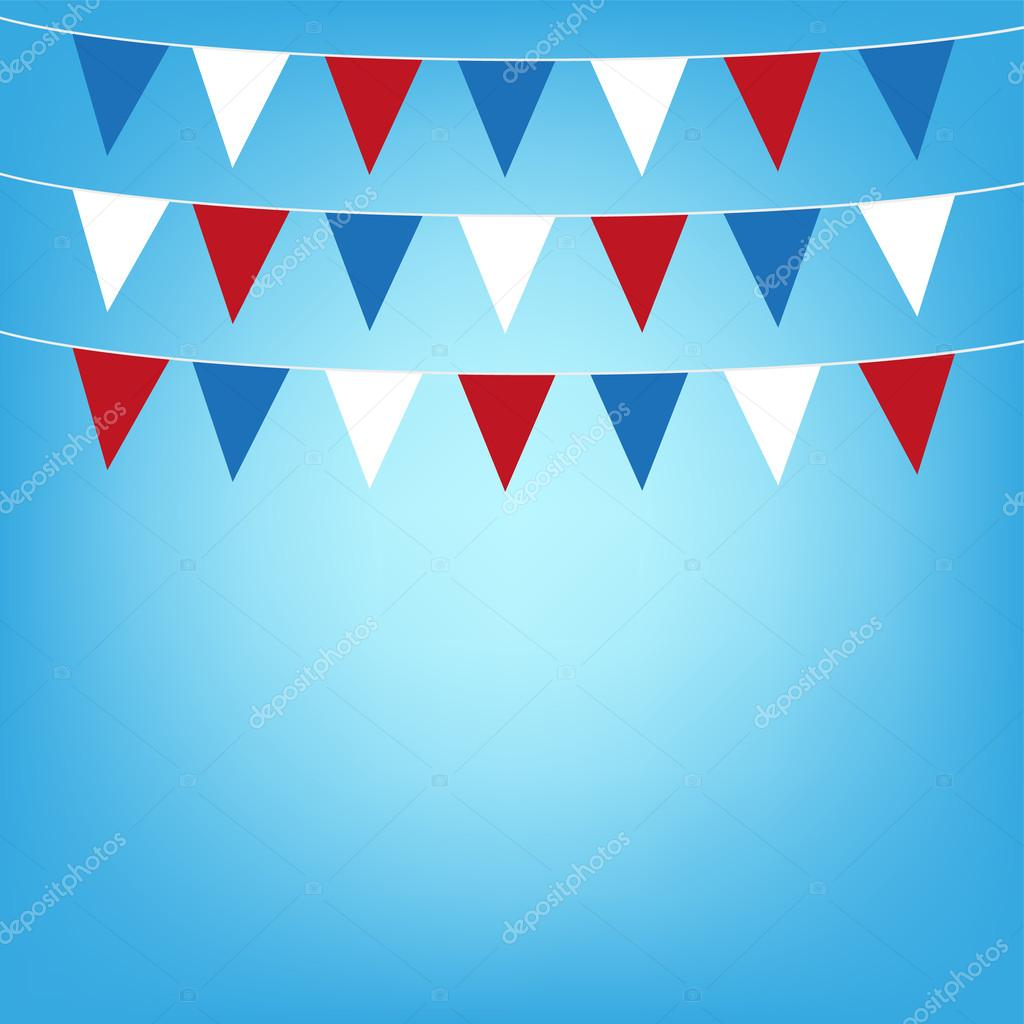 Illustration flags background