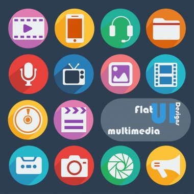 Icons for Multimedia.