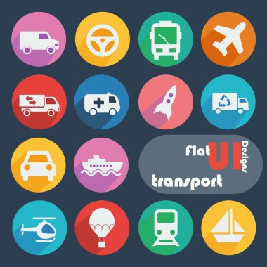 Icon set for Transport