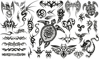 Tribal Tattoo Set.