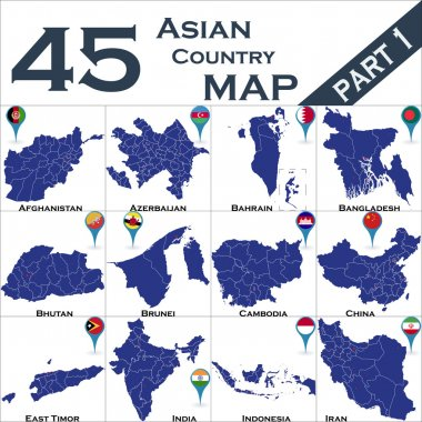 Maps of Asian country