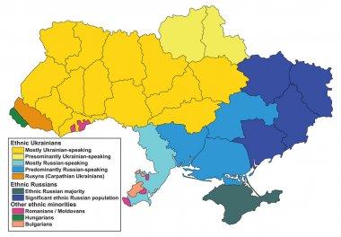 Ethnic map of Ukraine.