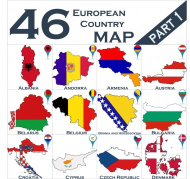 Maps of European country