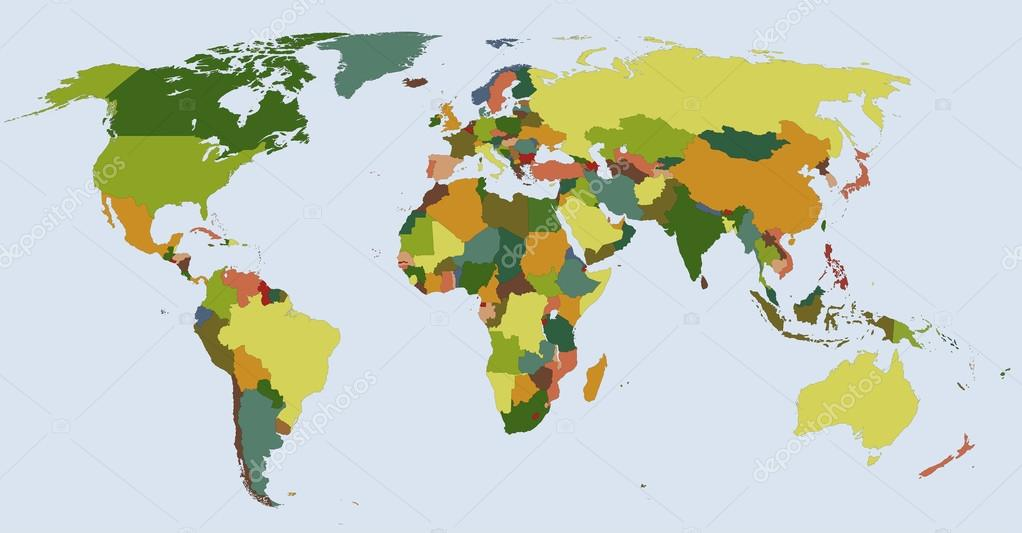 Cartina Del Mondo Politico.Mappa Del Mondo Politico Vettoriali Stock C Delpieroo