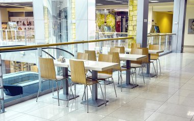 Cafe in shopping center