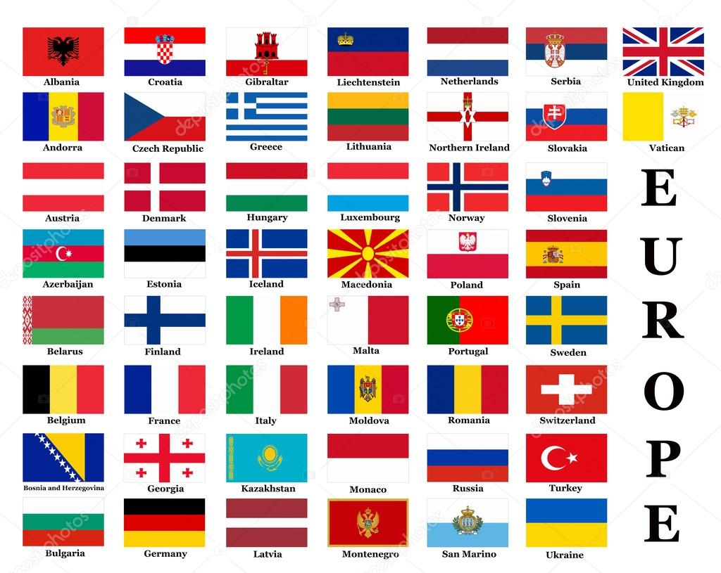 Très drapeaux de pays européens — Photo éditoriale #35609959 OY89