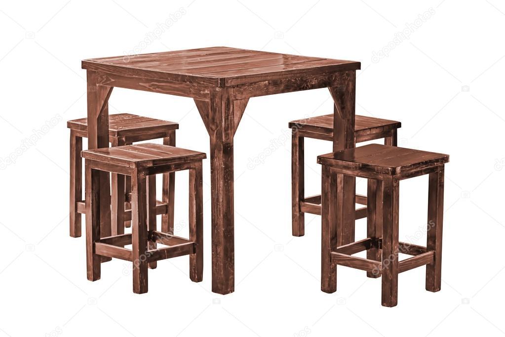 mesa de comedor Vintage — Fotos de Stock © nuwatphoto #48511133