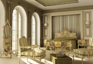 Luxury rococo bedroom