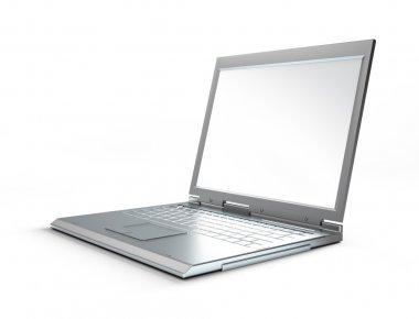 Laptop on white background. stock vector
