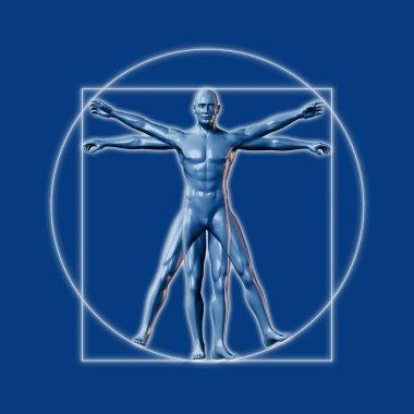 Image inspired on Leonardo da Vinci's Vitruvian man