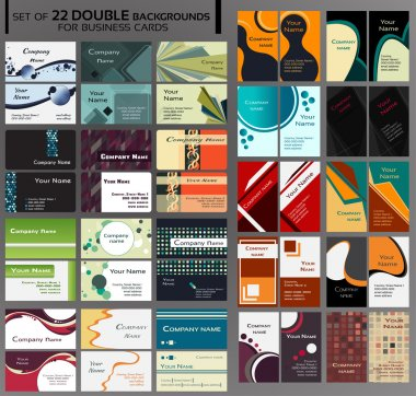 44 Backgrounds for double business