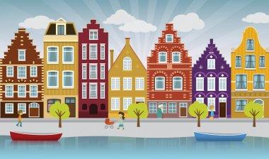 European city illustration