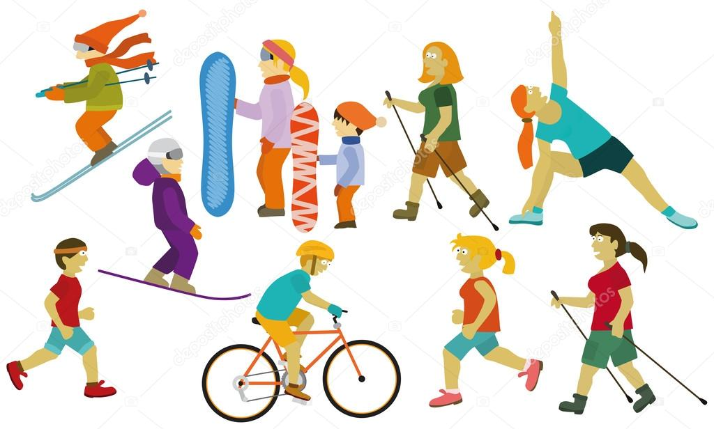 People (various sport activities)