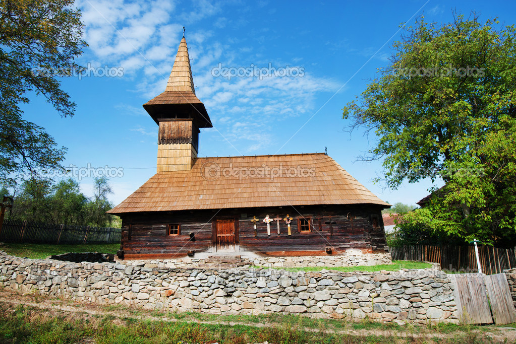 Grosii Noi wooden church, Arad, Romania — Stock Photo