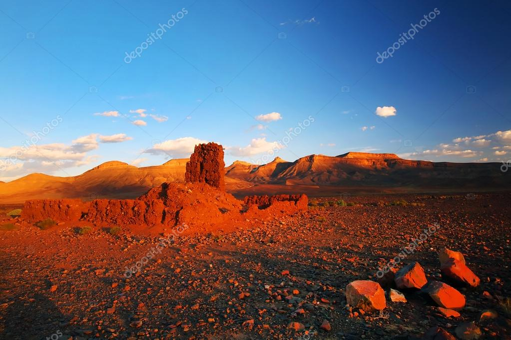 Moroccan Ruins in Atlas Mountains, Africa