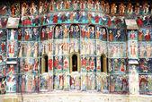 Fotografie Voronet Monastery painted wall, Unesco Heritage, Moldavia, Romania
