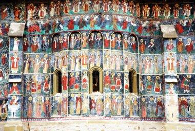 Voronet Monastery painted wall, Unesco Heritage, Moldavia, Romania
