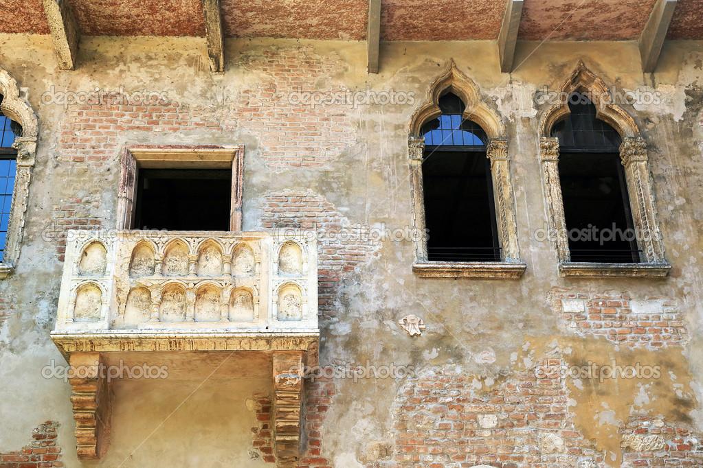 Romeo Und Julia Balkon In Verona Italien Stockfoto