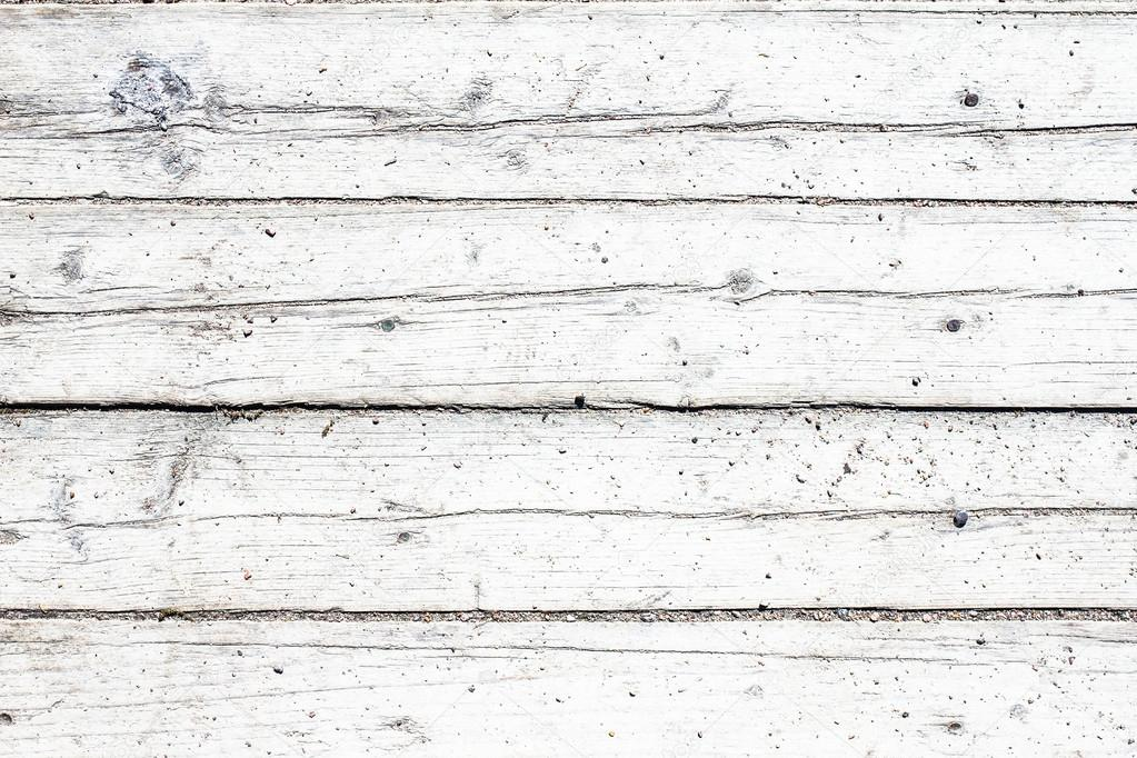 Old Vintage Wooden White Background Table Or Floor