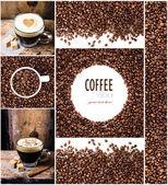 espresso, cappuccino, moka a kávy bean