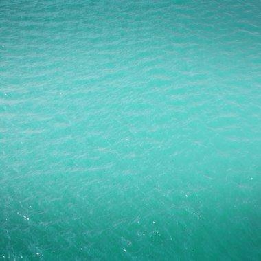 cyan blue sea water